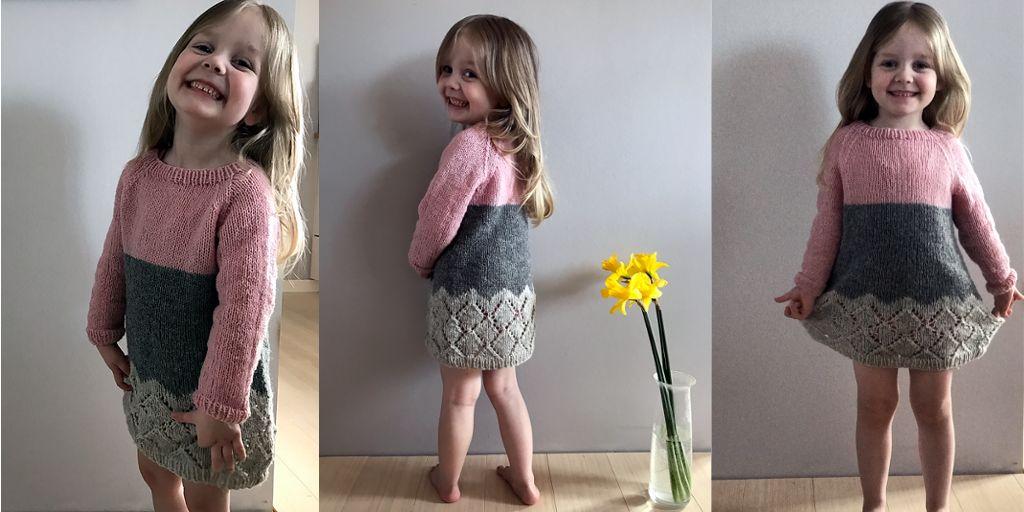Вязание спицами для девочки платье платья 560