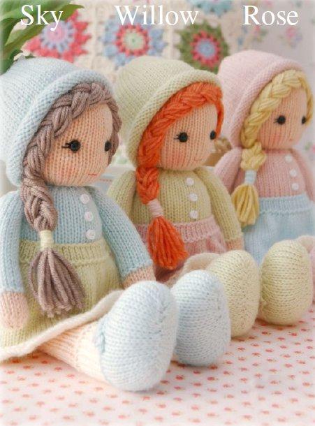Мк вязание куклы спицами 1120