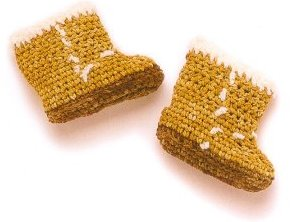 knitted felt boots
