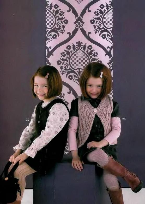 Предлагаю Вам связать жилет спицами для детей, а именно для девочки от 2 до 10 лет, к данному вязаному жилету схемы...