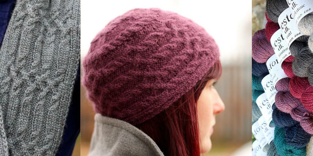 Красивая шапка спицами модные косы